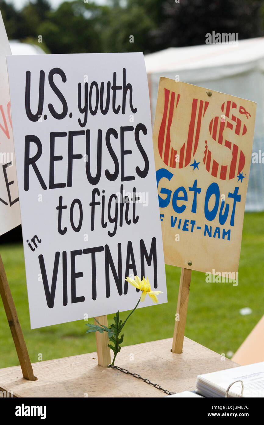 Protest in Opposition to United States involvement in the Vietnam War - Stock Image