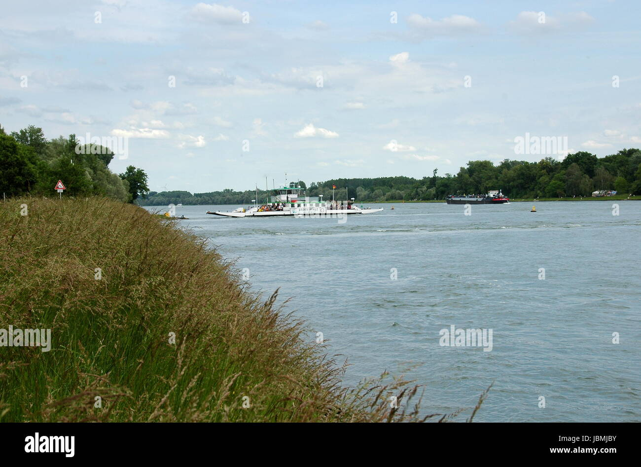 rhine navigation Stock Photo