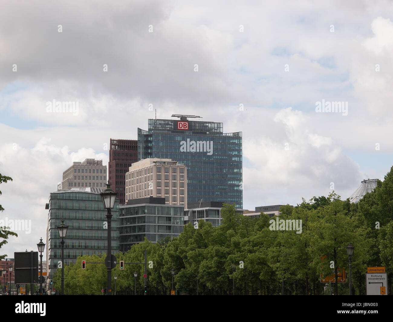 BERLIN, GERMANY - MAY 11, 2014: Potsdamer Platz redevelopment area has been the largest building site in Europe - Stock Image