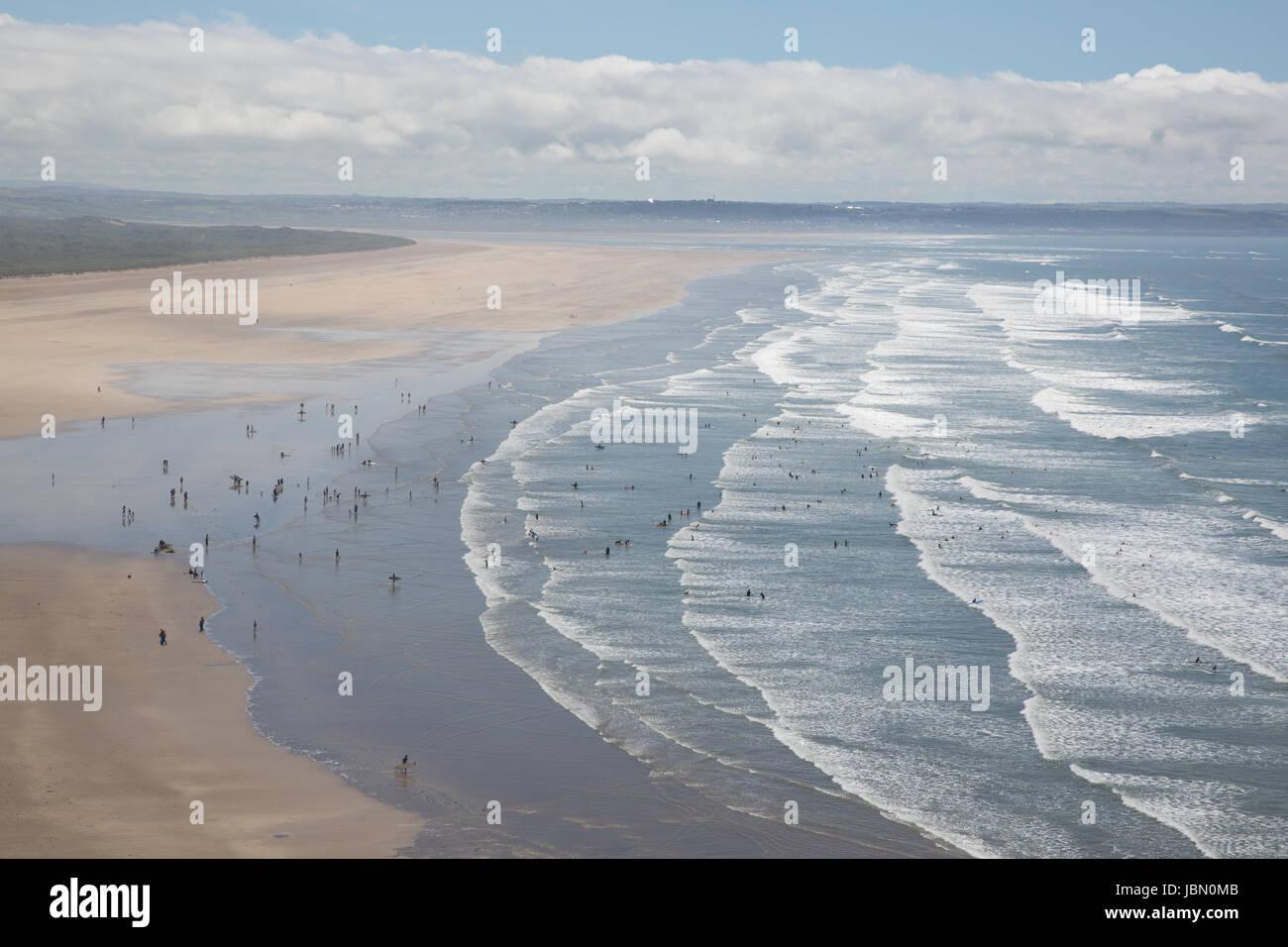 north devon beach saunton sands england Stock Photo