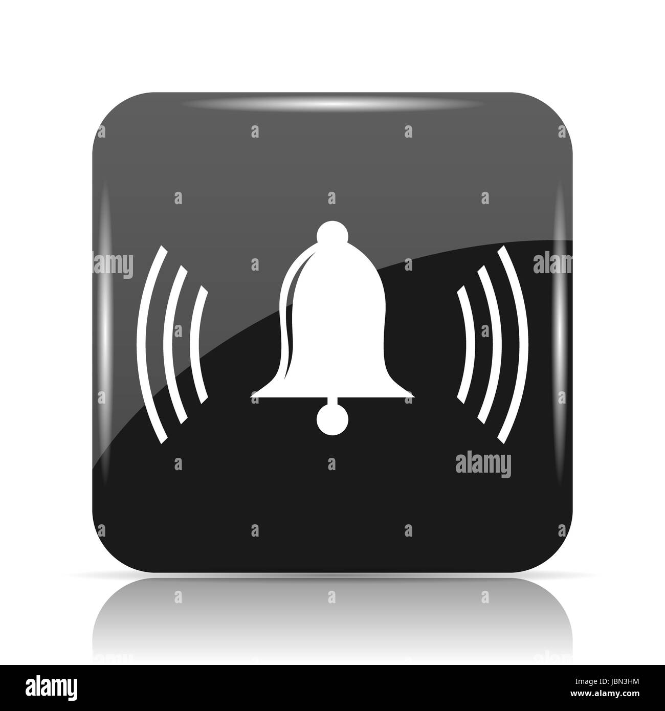 Bell icon. Internet button on white background. - Stock Image