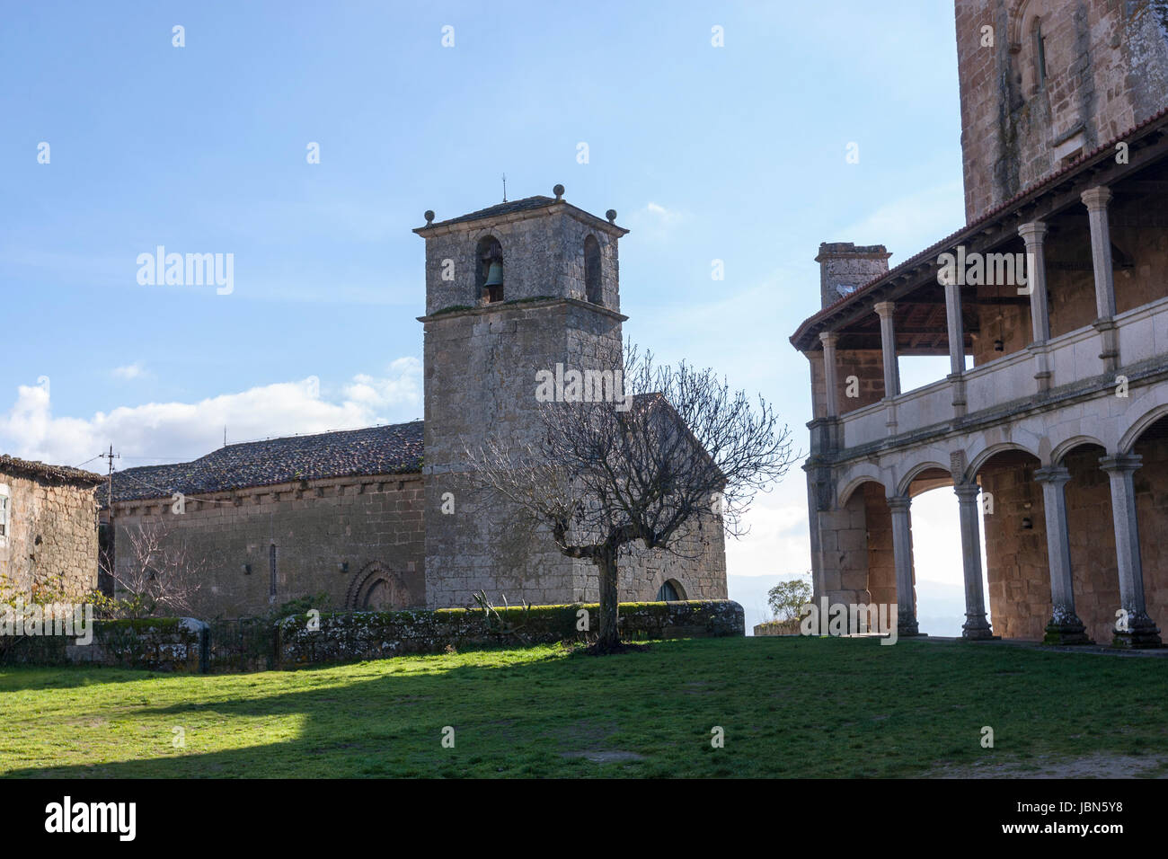 Monterrey Castle, fortress and palace, Ourense province, Galicia, Spain Stock Photo