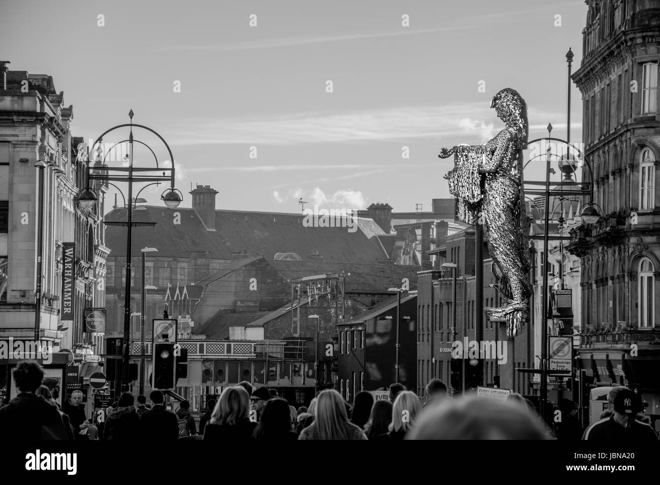 The photo was taken in leeds, England. - Stock Image