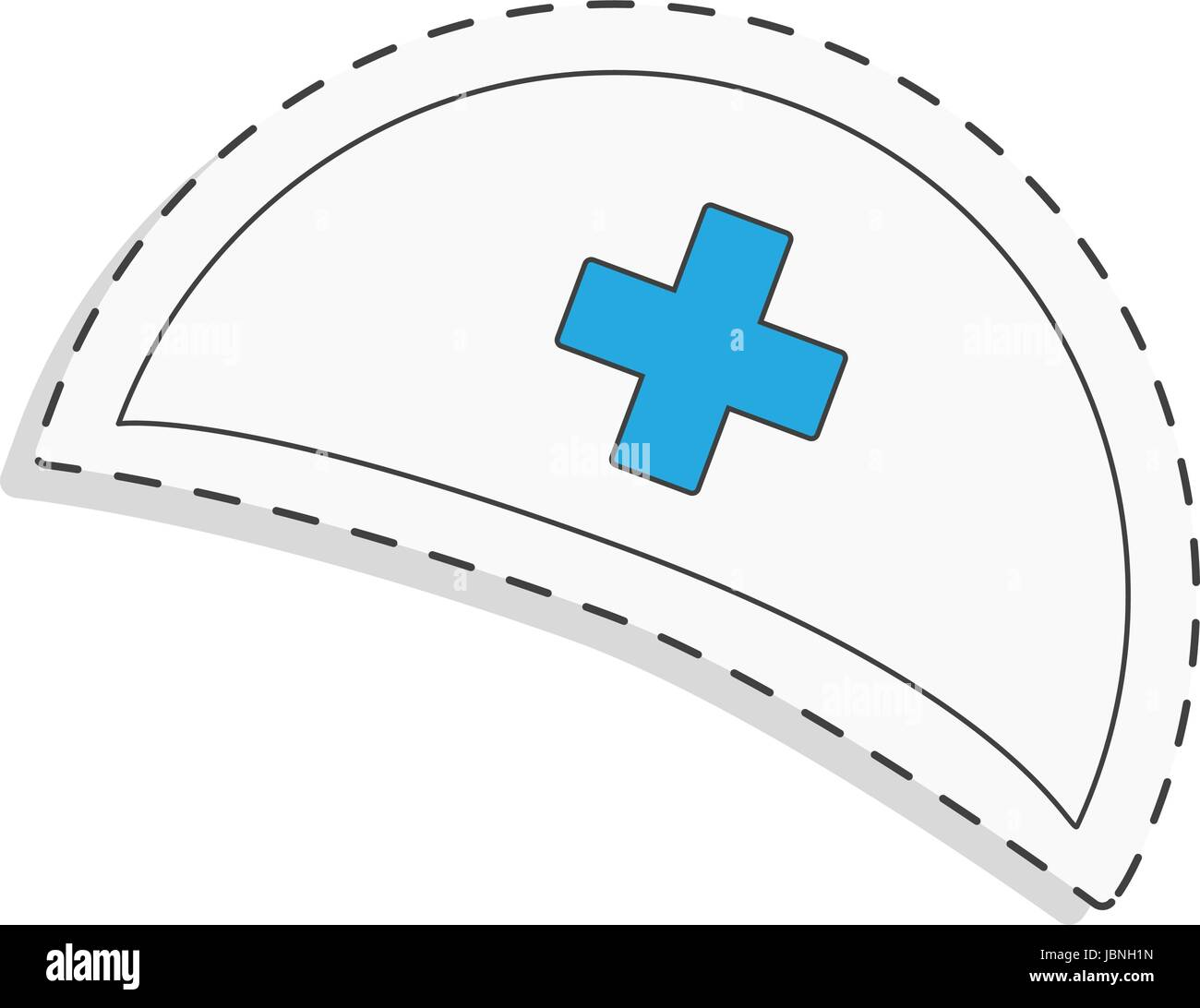 medicine flat icon for design. Nurse cap. World blood donor day. International holiday. donate blood and save life. - Stock Image