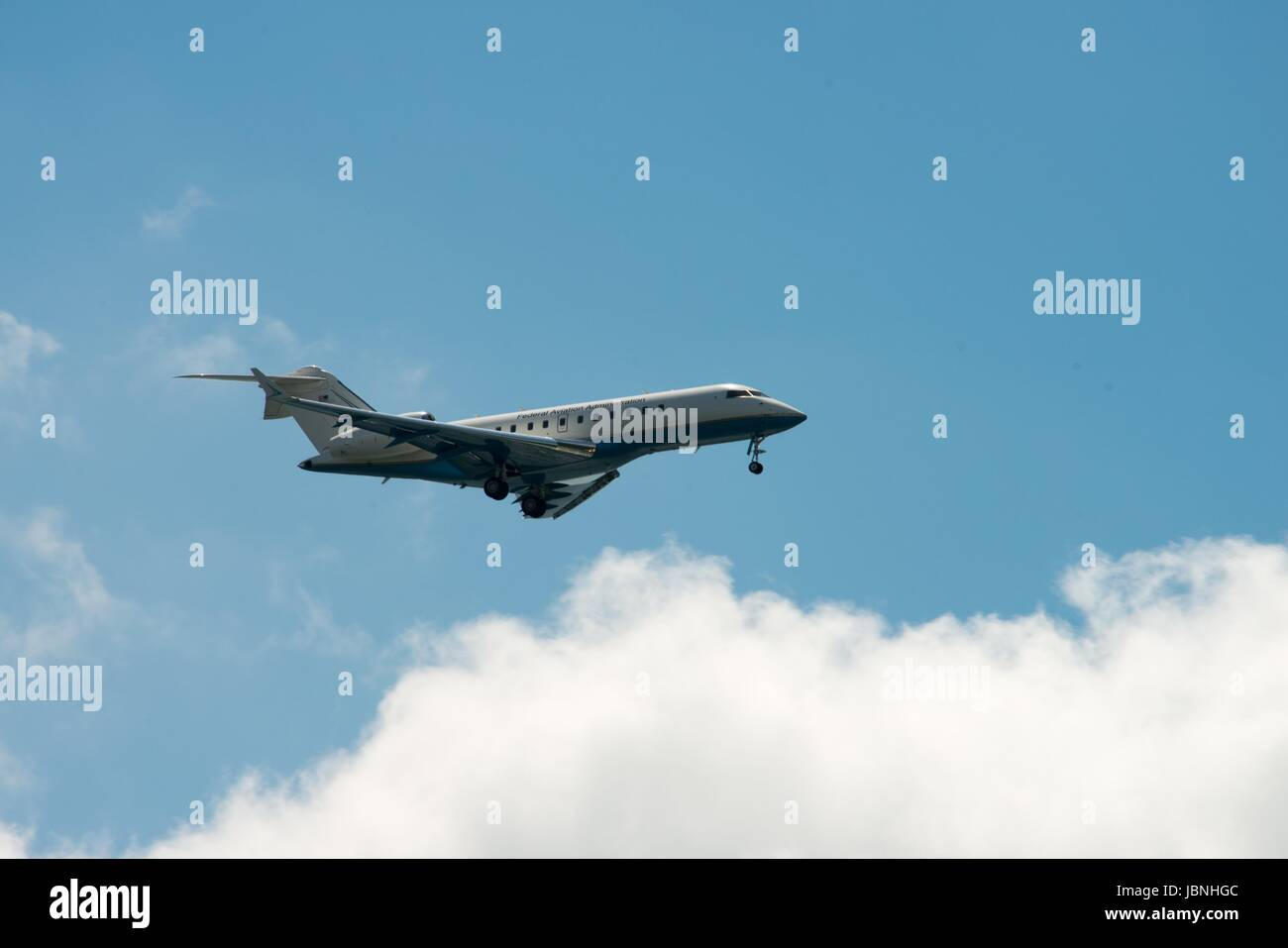 ATLANTIC CITY, NJ - AUGUST 17: Federal Avation Administration airplane at the Atlantic City Air Show on August 17, - Stock Image