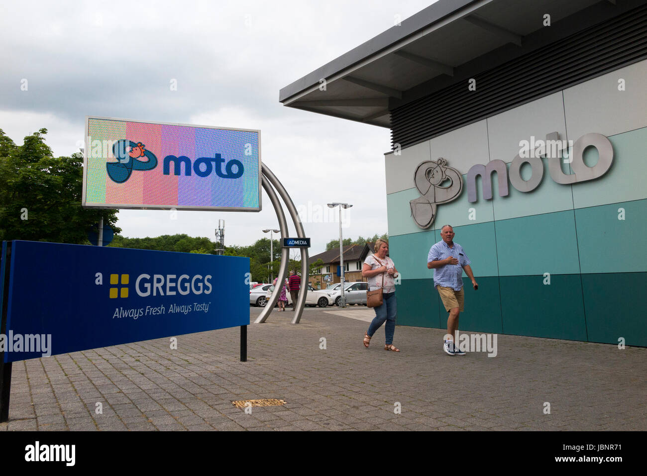 Cherwell Valley Motorway Services Moto Services Ltd – northbound – Cherwell Valley Motorway Services Area, Northampton - Stock Image