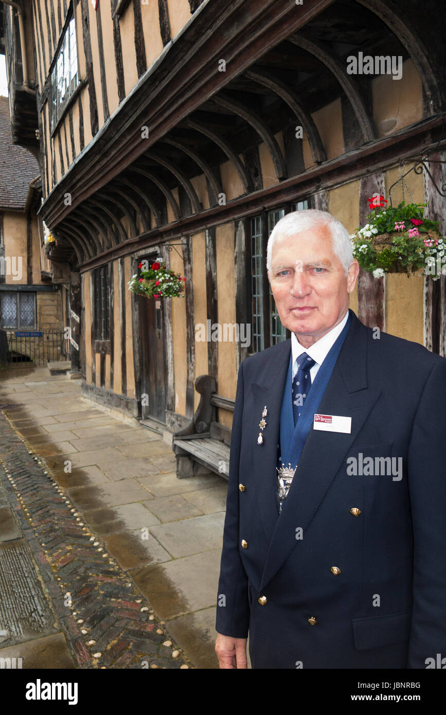 Brethren / Brother (a retired Ex-Serviceman) resident living at The Lord Leycester Hospital – retirement home for - Stock Image
