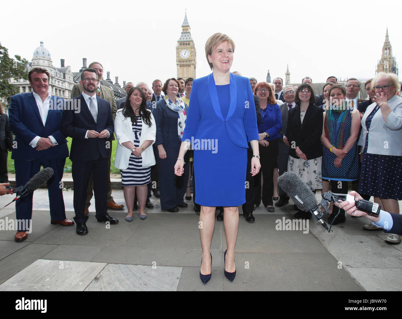 First Minister Nicola Sturgeon welcomes new SNP MPs to Westminster Stock  Photo - Alamy
