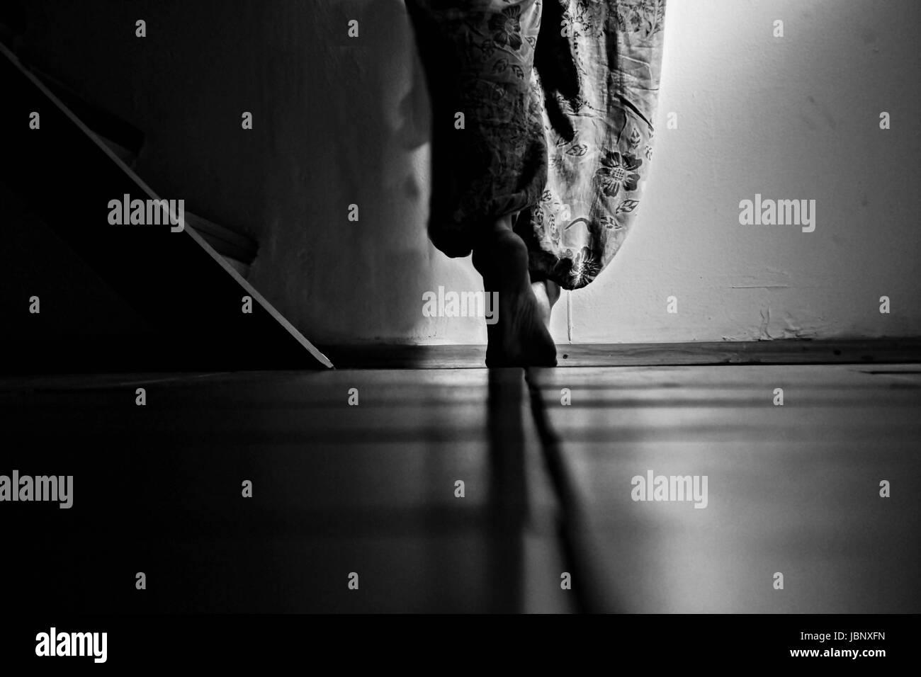 Walking away - Stock Image