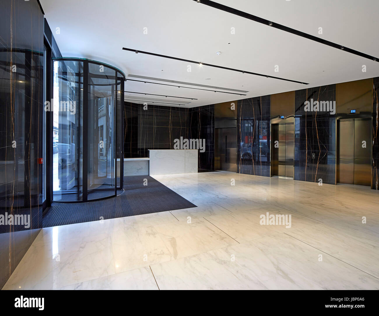Reception area. 24 Saville Row, London, United Kingdom. Architect: EPR Architects Limited, 2017. - Stock Image