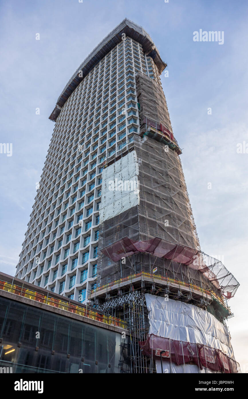 Construction work and development on Centre Point, London, UK Stock Photo