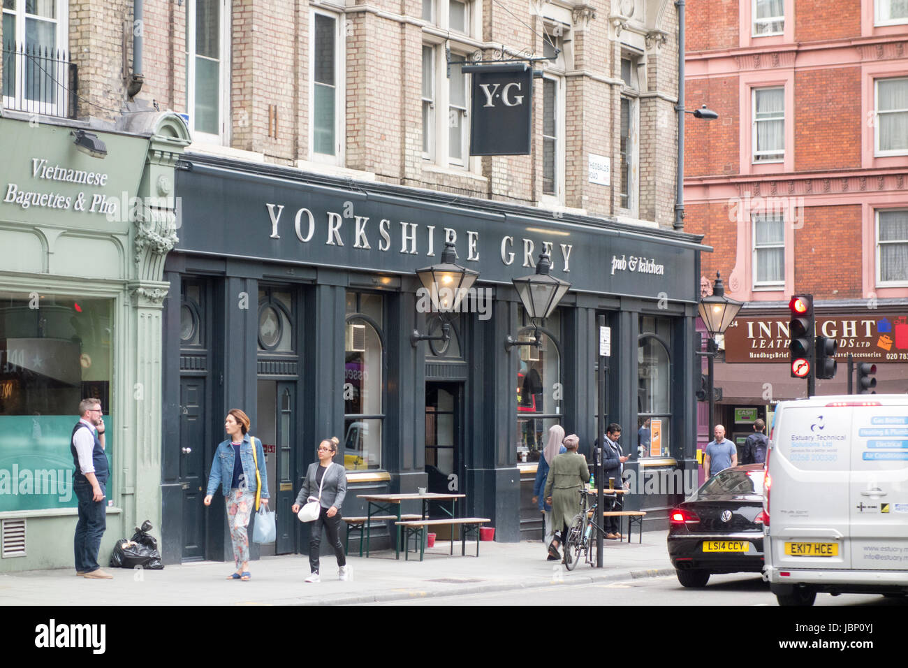 The Yorkshire Grey, pub / bar / restaurant on the corner of Grays Inn Road and Theobald's Road, Bloomsbury, - Stock Image