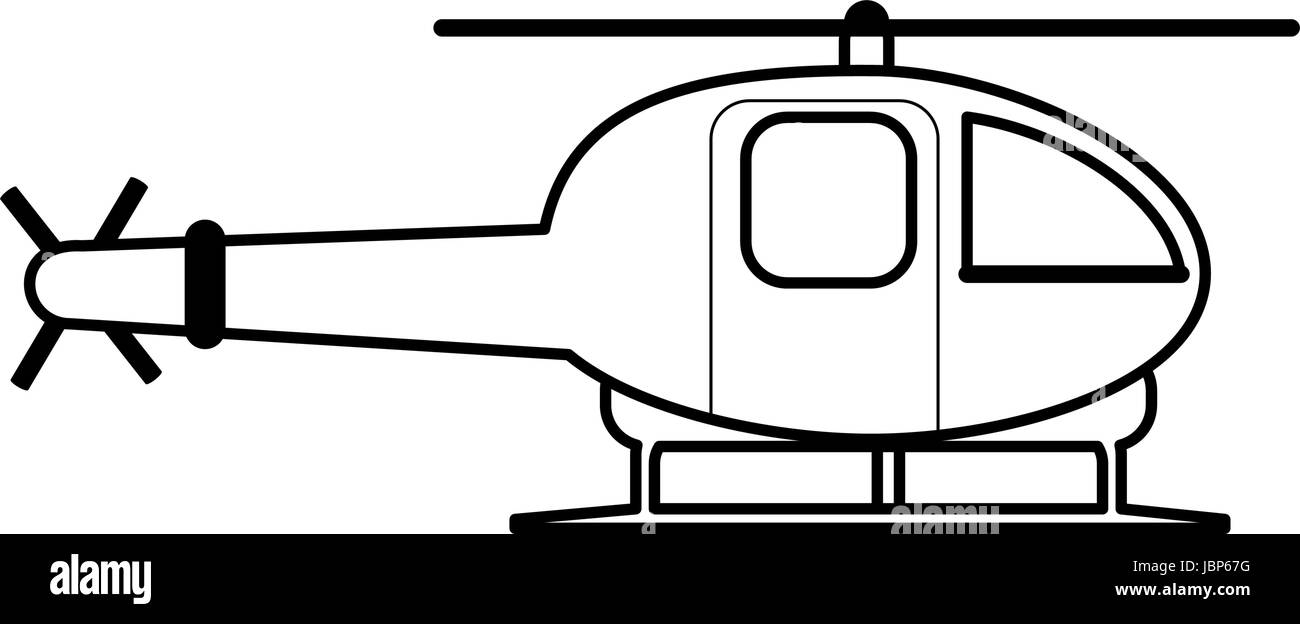 helicopter flat illustration - Stock Vector
