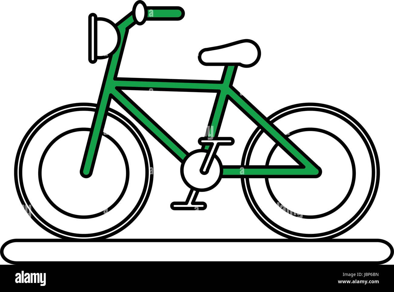 bycicle flat illustration - Stock Image