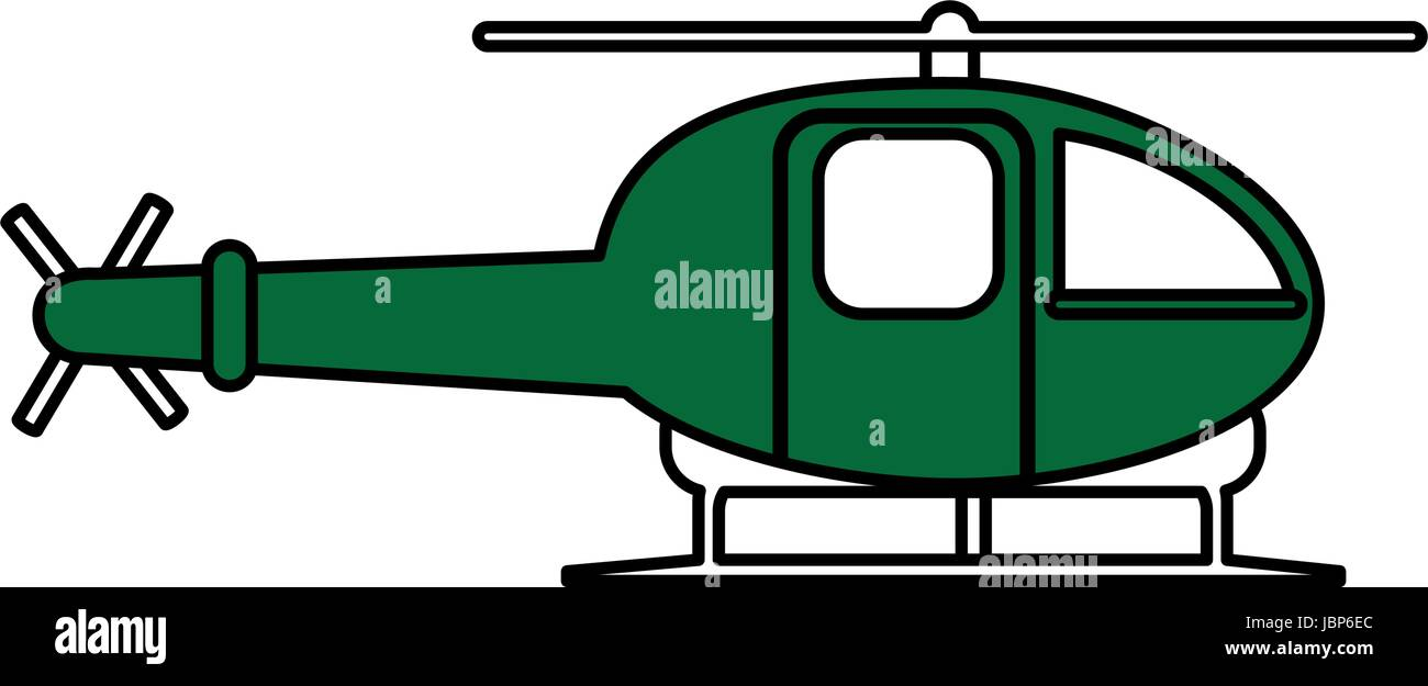 helicopter flat illustration Stock Vector Art & Illustration
