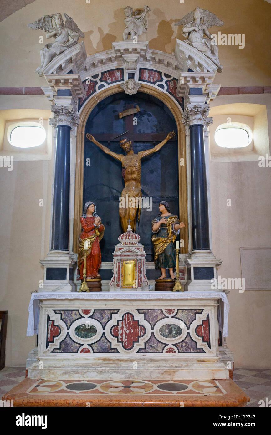 Interior of St Mary's Church, Kotor, Montenegro Stock Photo