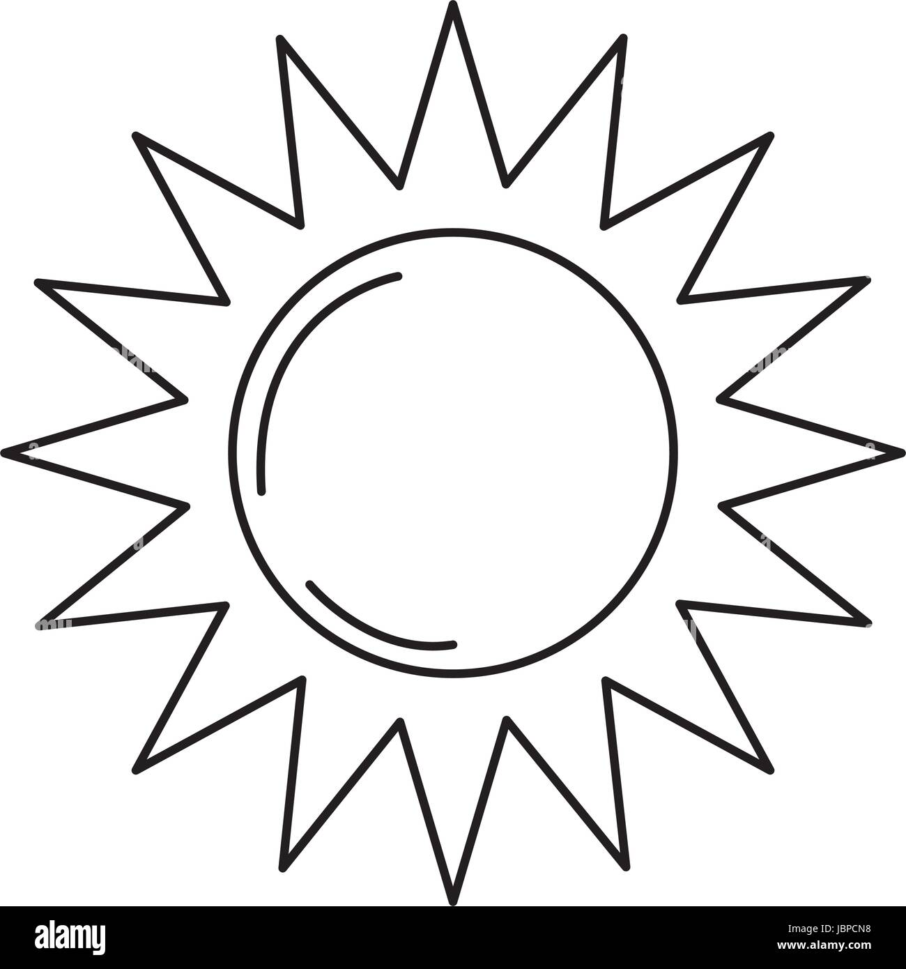line sun light to sunny weather on vacation Stock Vector