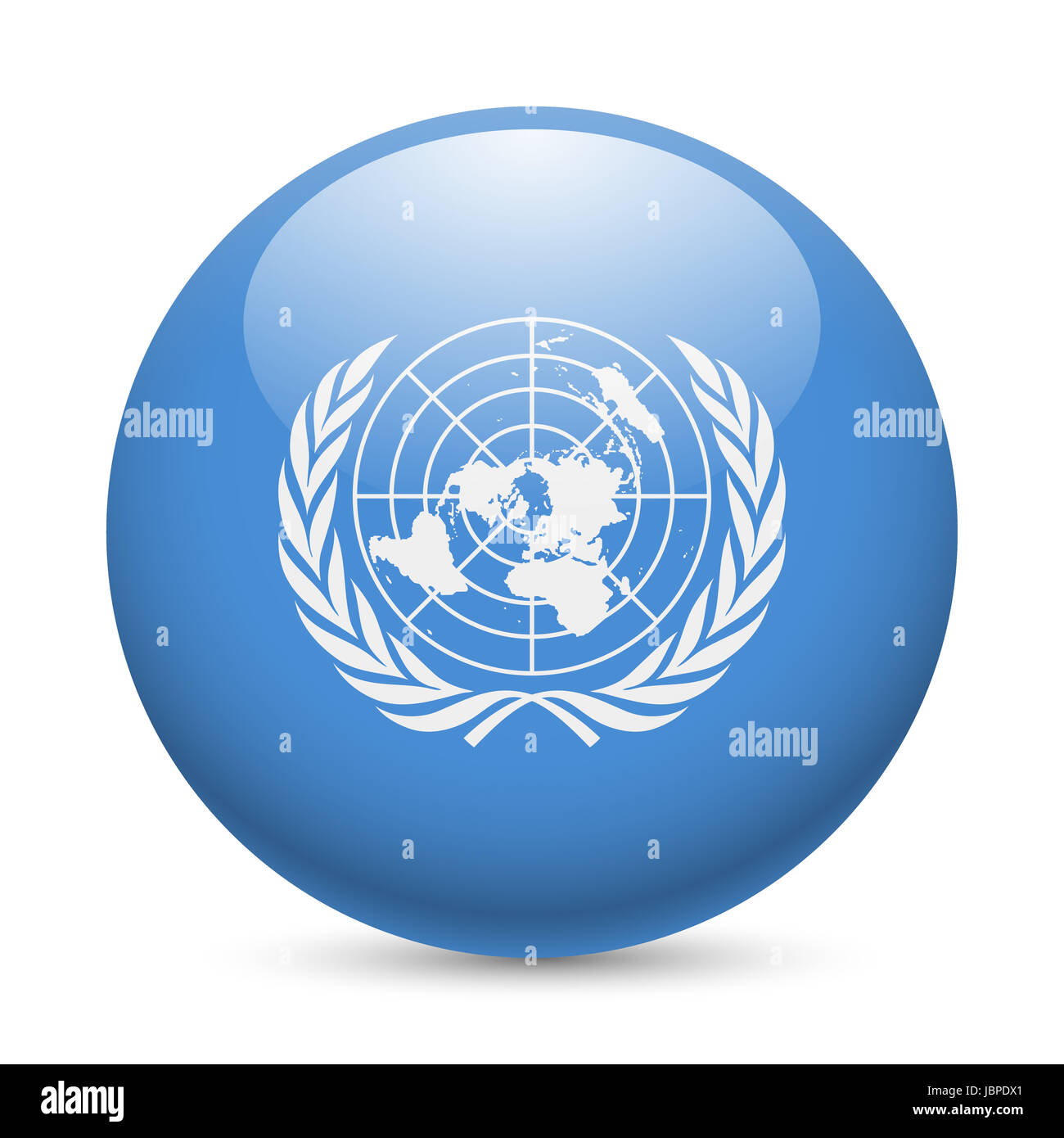 United Nations Flag Cut Out Stock Images Pictures Alamy