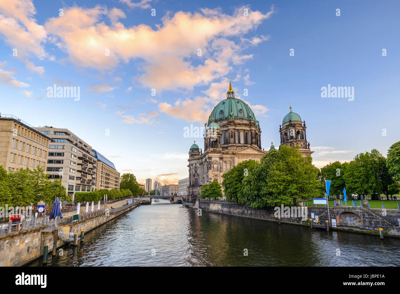 Berlin Cathedral or Berliner Dom when sunset, Berlin, Germany - Stock Image