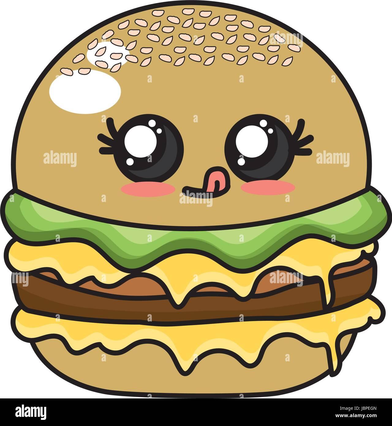 Kawaii Cute Hamburger Fast Food
