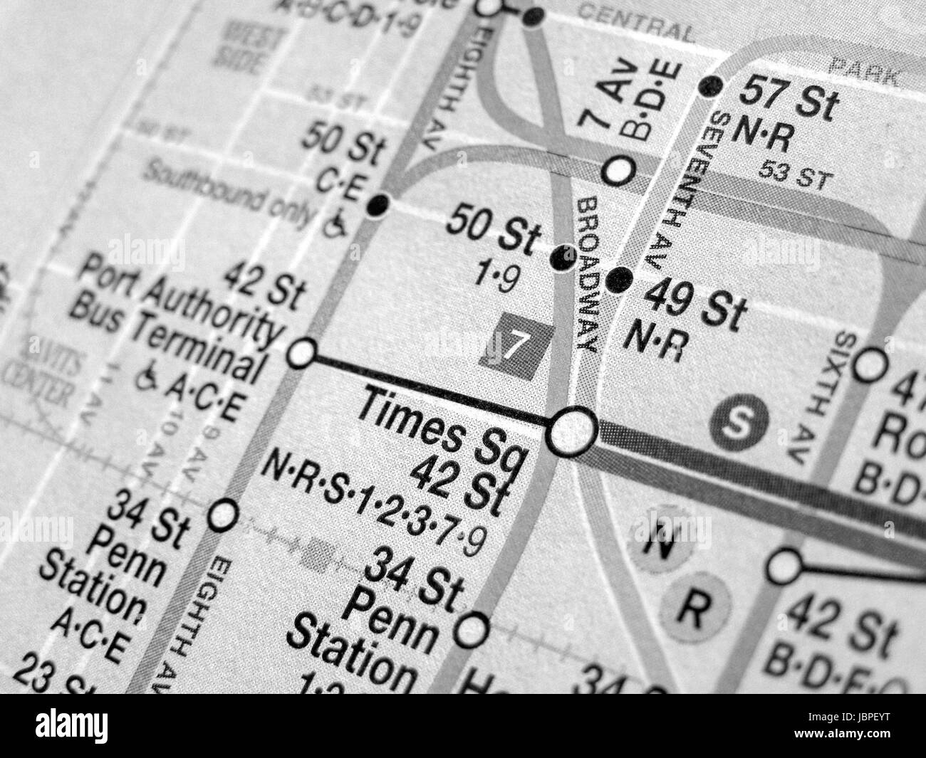 Black And White Subway Map.New York Subway Map Black And White Stock Photos Images Alamy