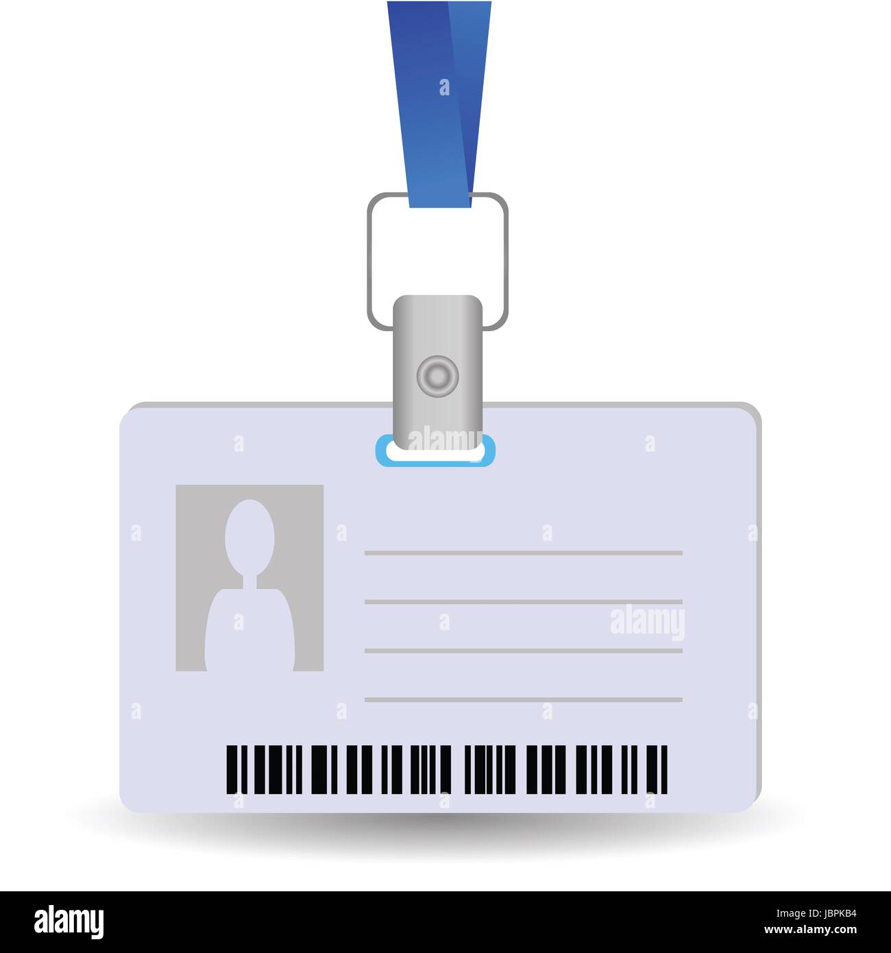Illustration With Name Tag Holder On A White Background For Your Design