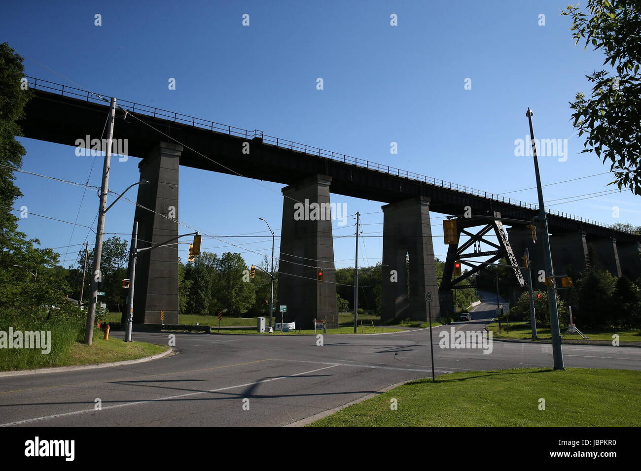 St Thomas Ontario, Canada, MCR bridge soon to be an elevated park - Stock Image