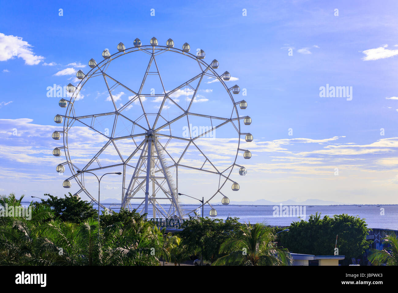 Oct 29, 2016 Ferris wheel at the Mall of Asia, in Pasay, Metro Manila, Philippines - Stock Image