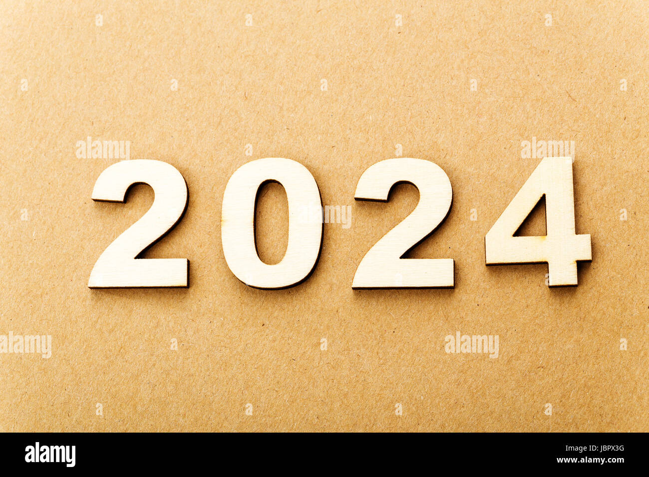 Wooden text for year 2024 Stock Photo: 144947588 - Alamy