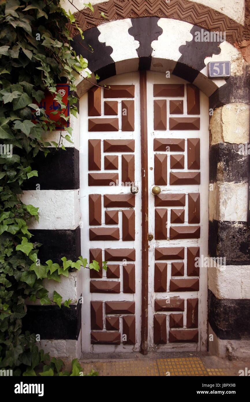 Eine Gasse im Souq und Altstadt von Damaskus in der Hauptstadt von Syrien. - Stock Image