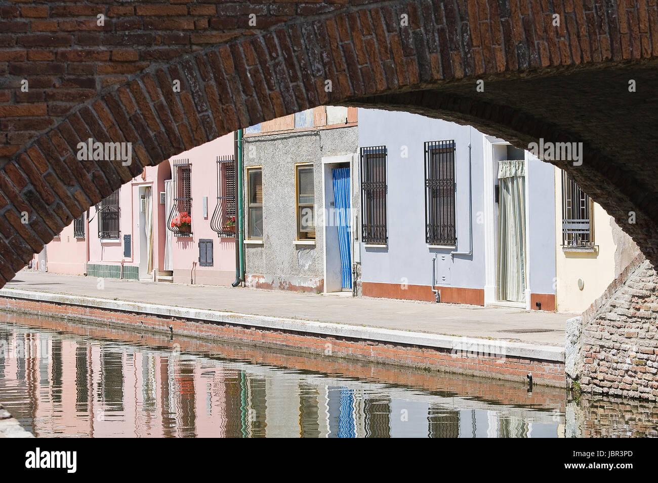View of Comacchio. Emilia-Romagna. Italy. - Stock Image