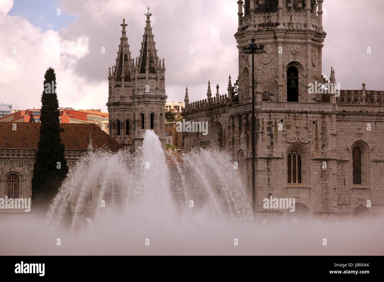 Europa, Westeuropa, EU, Euro, Portugal, Lissabon, Belem, Kloster, Jeronimus,   (Urs Flueeler) - Stock Image