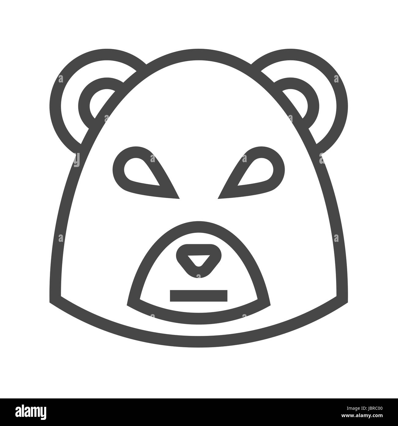 Bear Market Thin Line Vector Icon. Flat icon isolated on the white background. Editable EPS file. Vector illustration. - Stock Vector