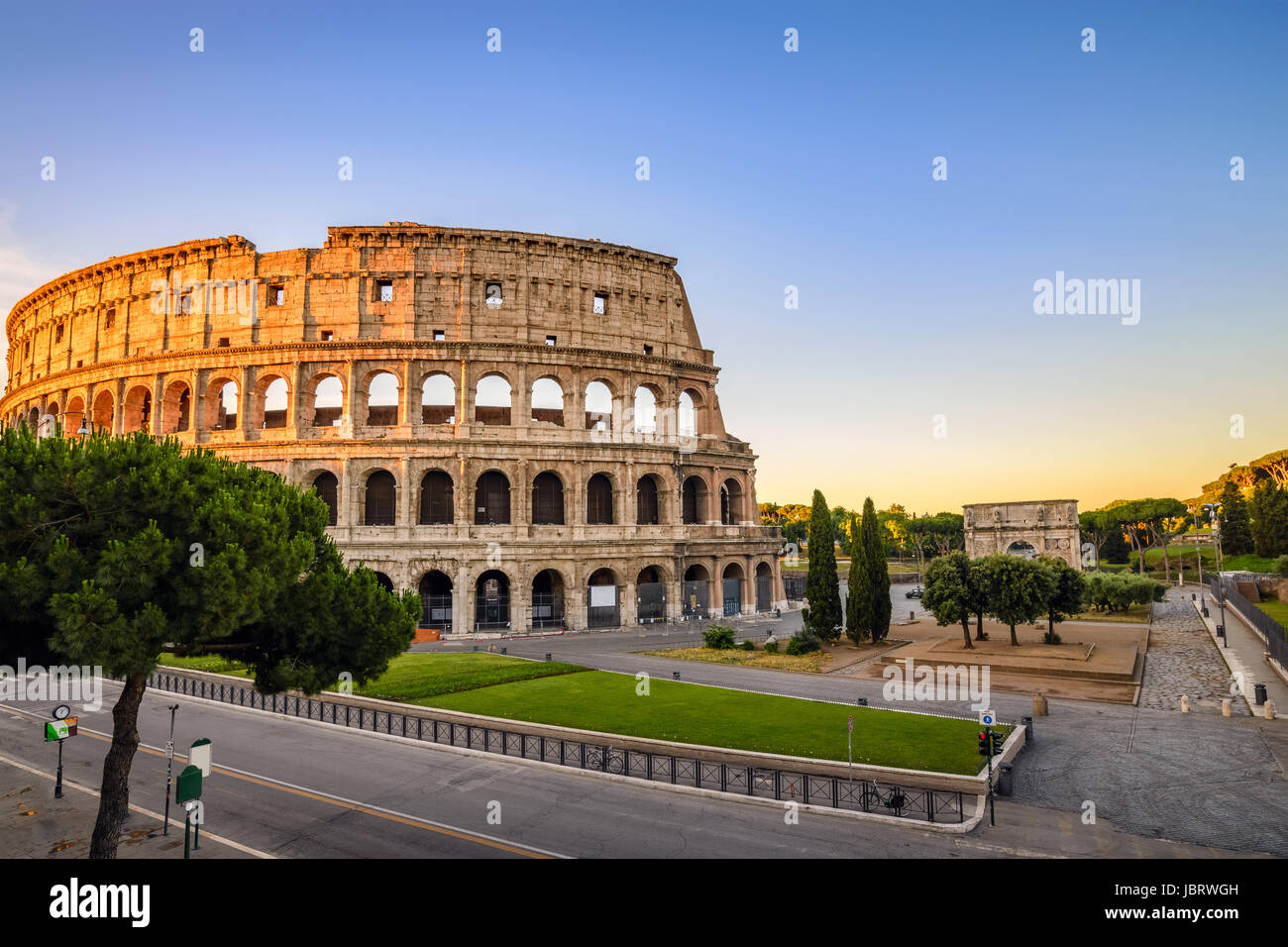 Rome Colosseum (Roma Coliseum), Rome, Italy - Stock Image