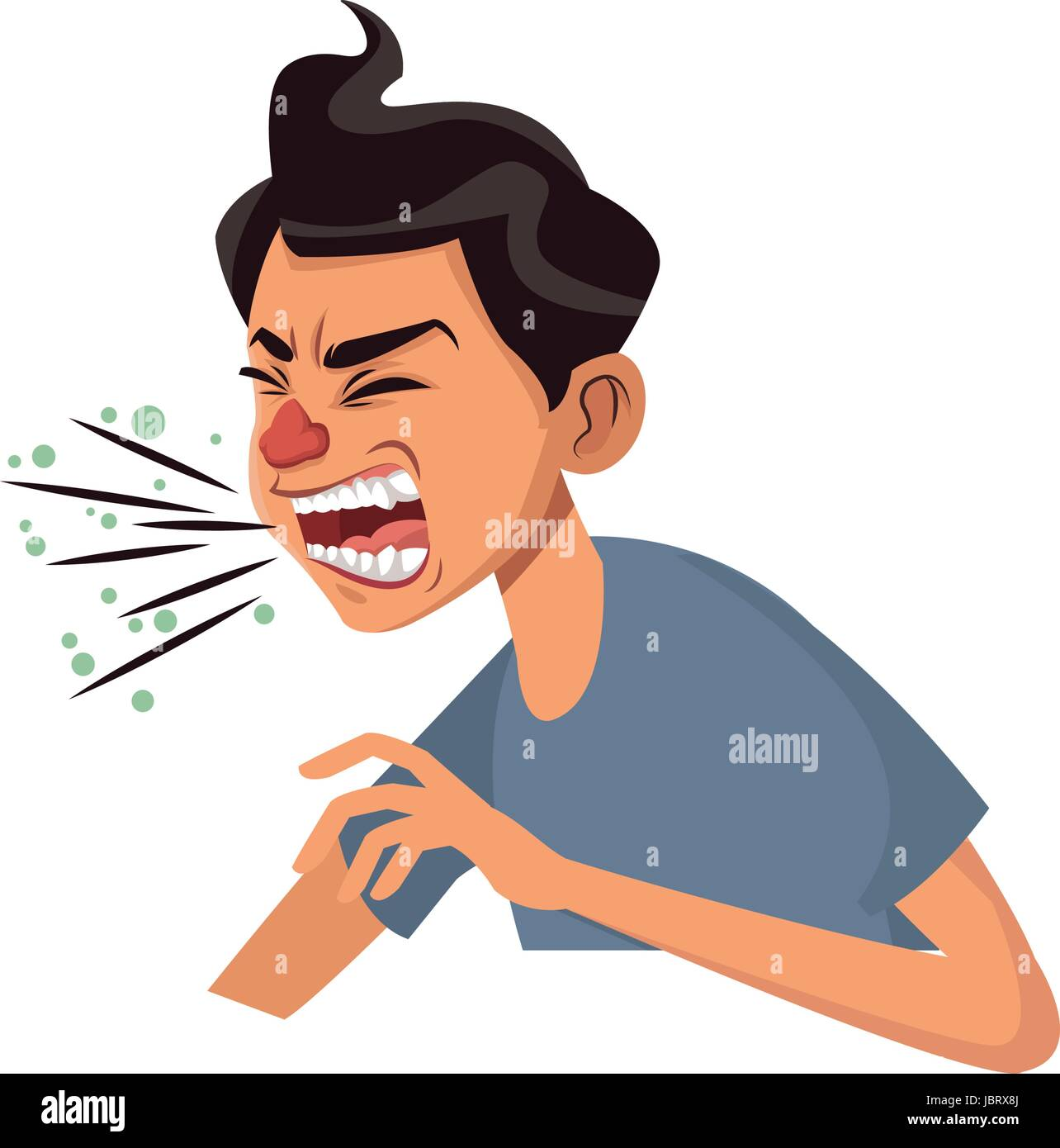 coughing man sick person with cold flu and virus stock vector image art alamy https www alamy com stock photo coughing man sick person with cold flu and virus 144969682 html