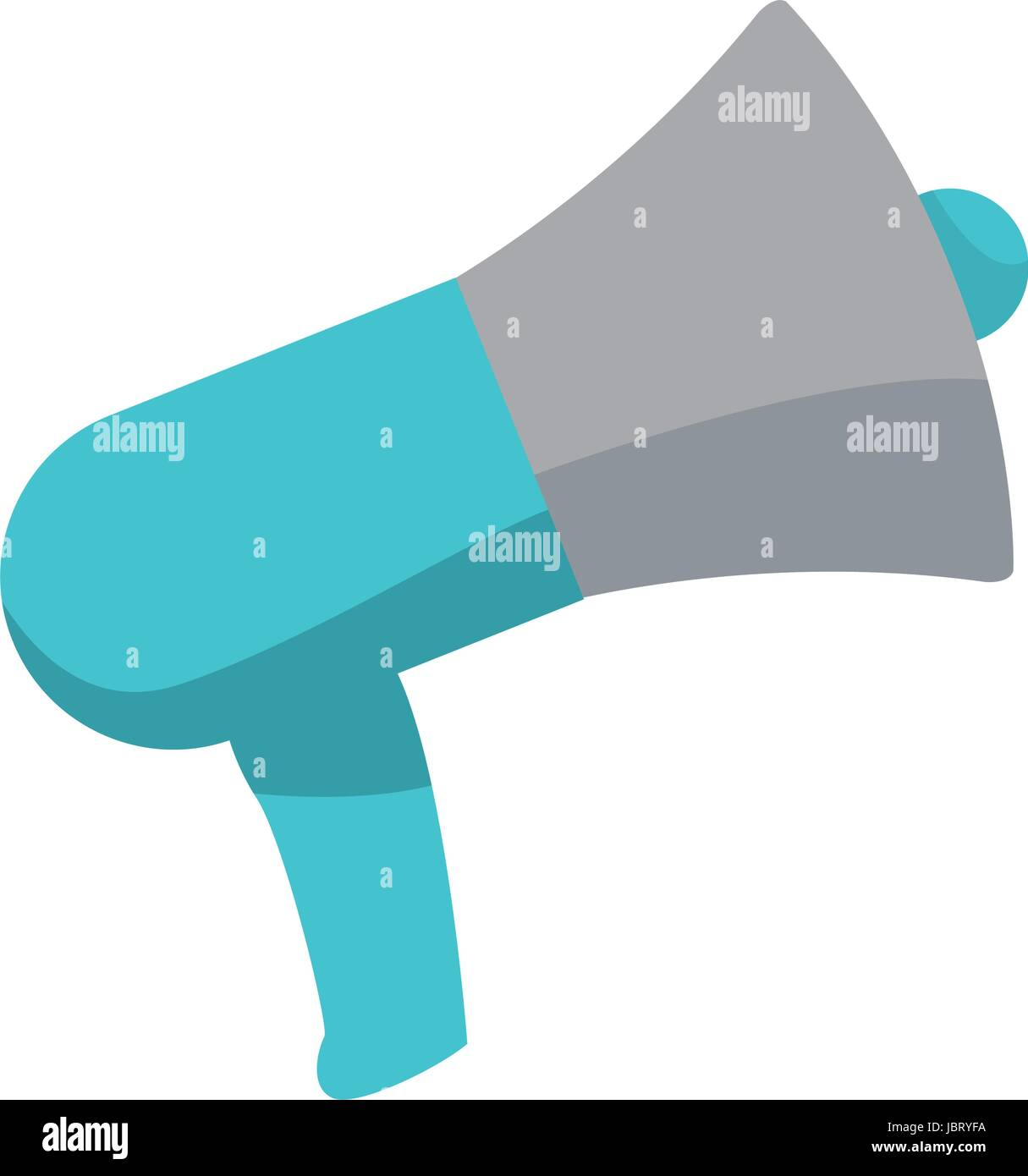 speaker advertise campaign audio broadcast vector illustration - Stock Image