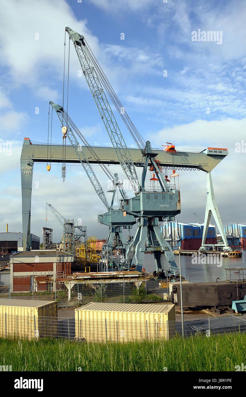 shipyard crane - Stock Image