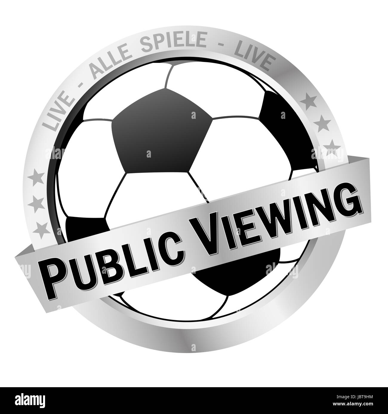 colored isolated button PUBLIC VIEWING - Stock Image