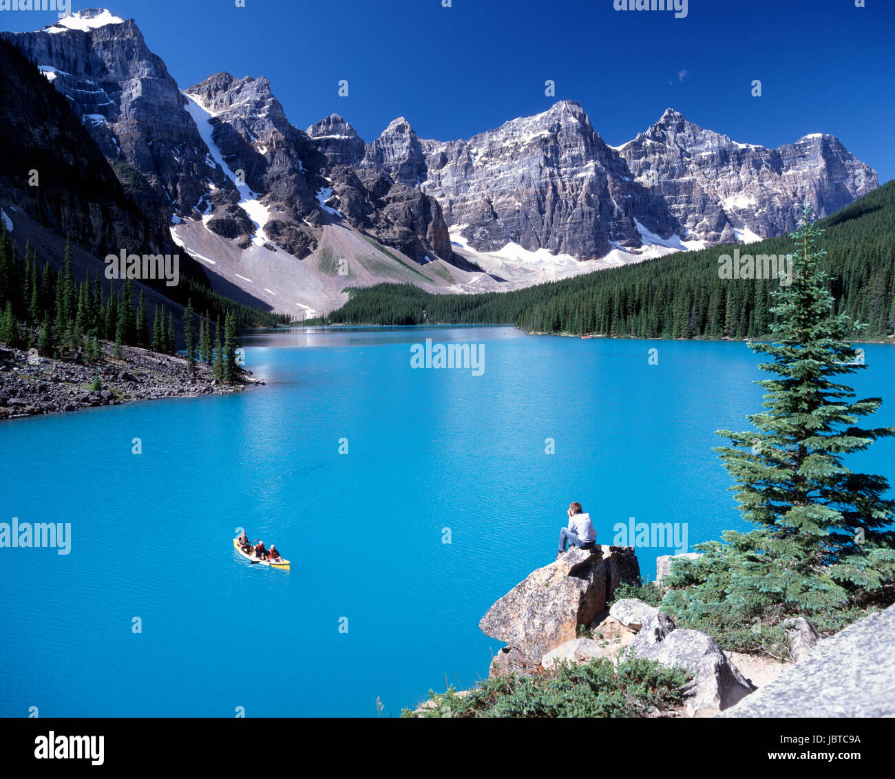 Moraine Lake Banff National Park Canada - Stock Image