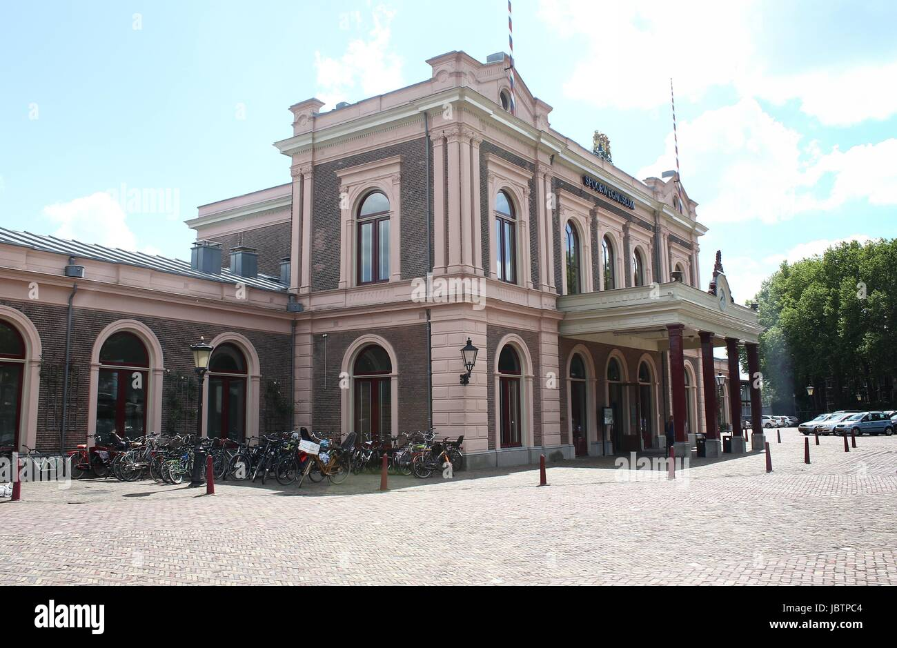 Nederlands Spoorwegmuseum (Dutch national railway museum), Utrecht, The Netherlands. Located at former Maliebaan - Stock Image