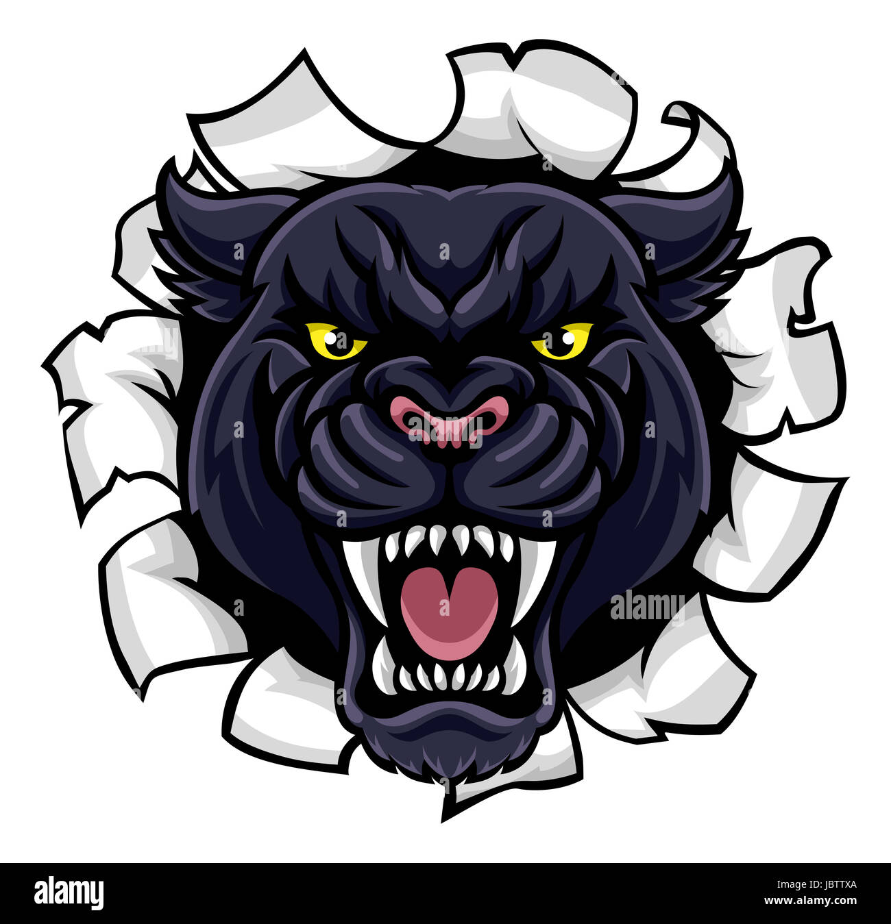 a black panther angry animal sports mascot breaking cougar clipart for schools cougar clip art free