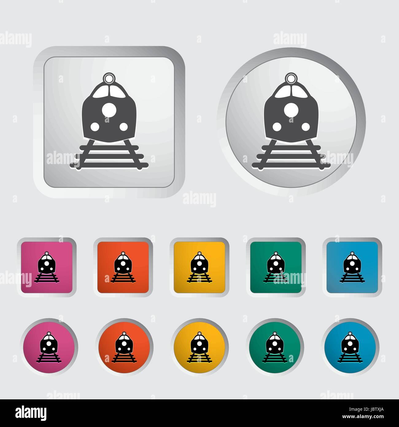 Train icon. Vector illustration EPS. - Stock Vector