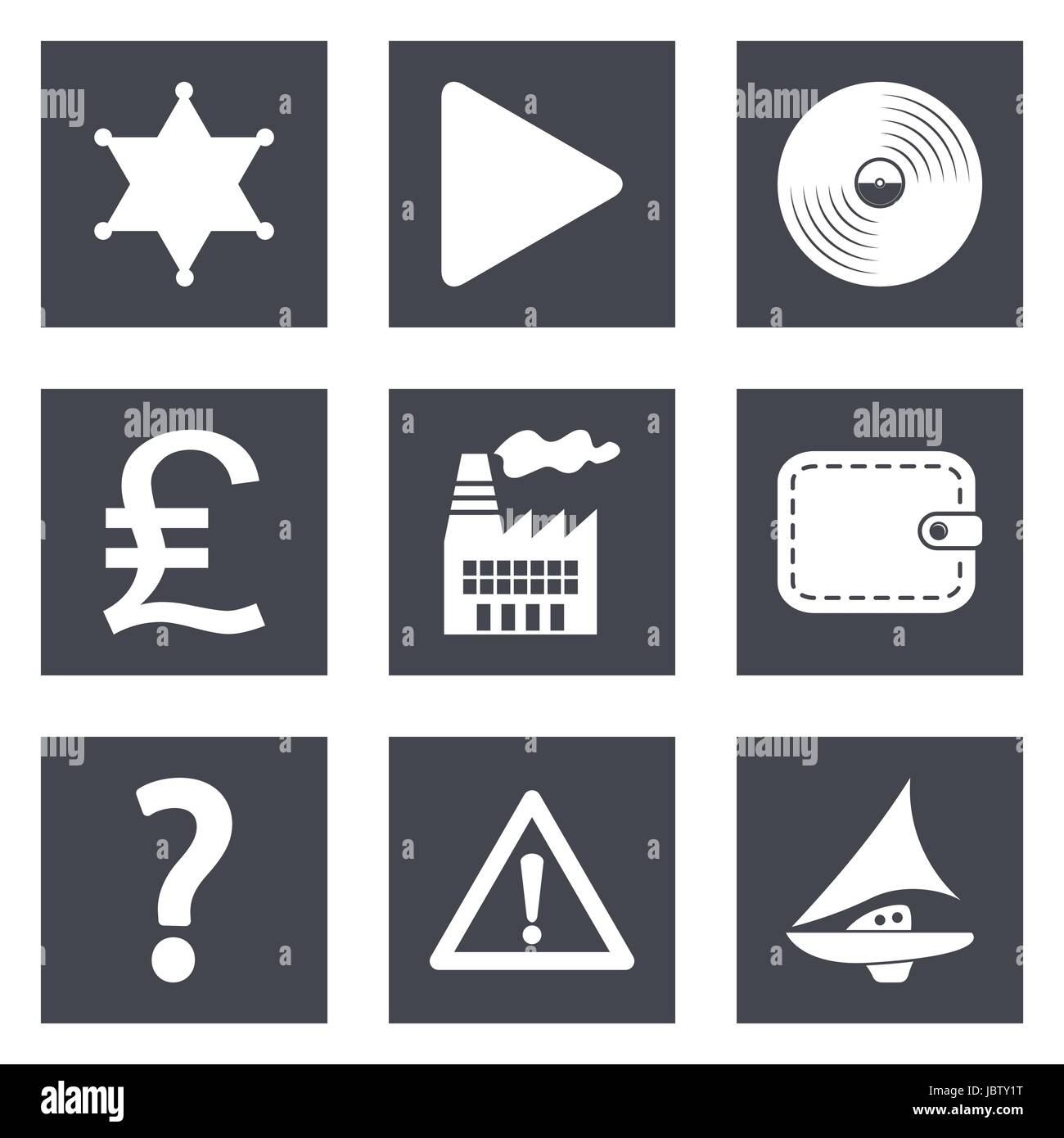 Icons for Web Design and Mobile Applications set 24. Vector illustration. - Stock Vector