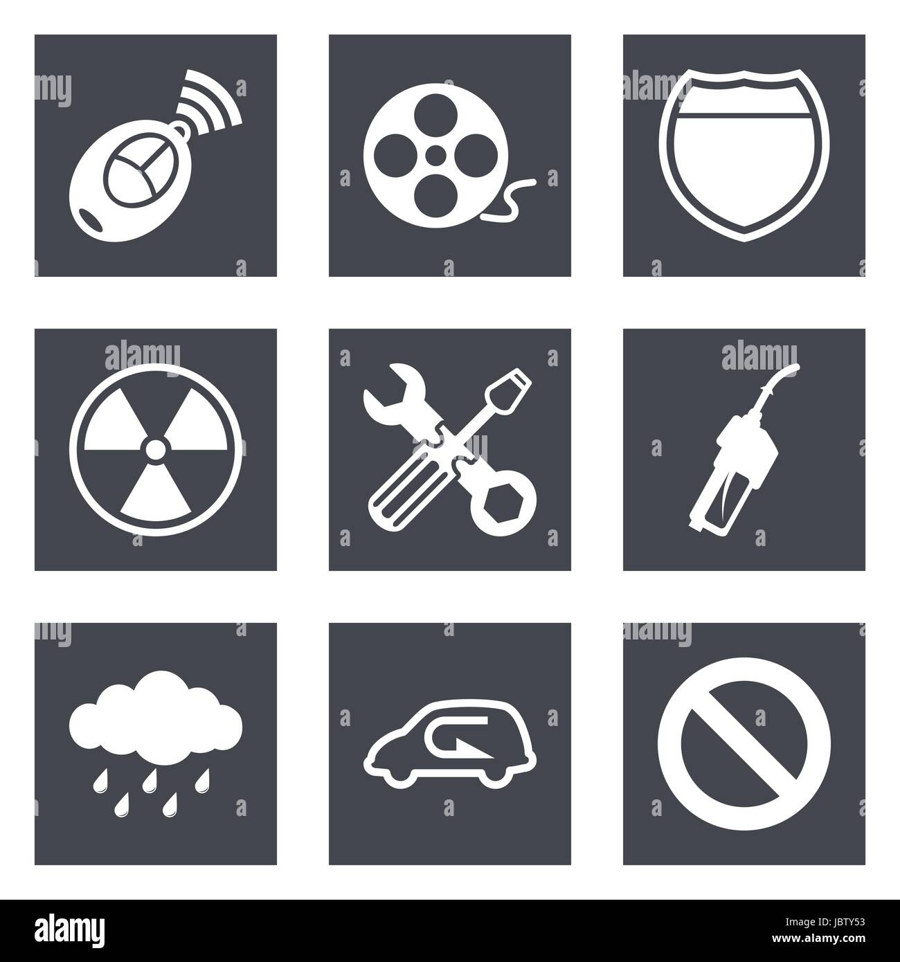Icons for Web Design and Mobile Applications set 37. Vector illustration. Stock Vector