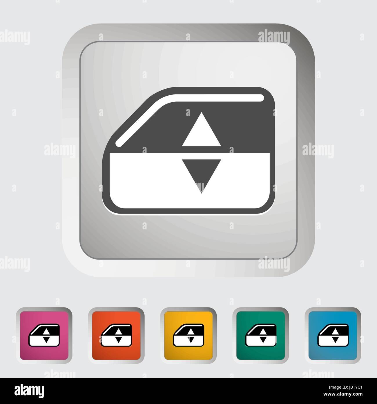 Window lift. Single icon. Vector illustration. - Stock Image