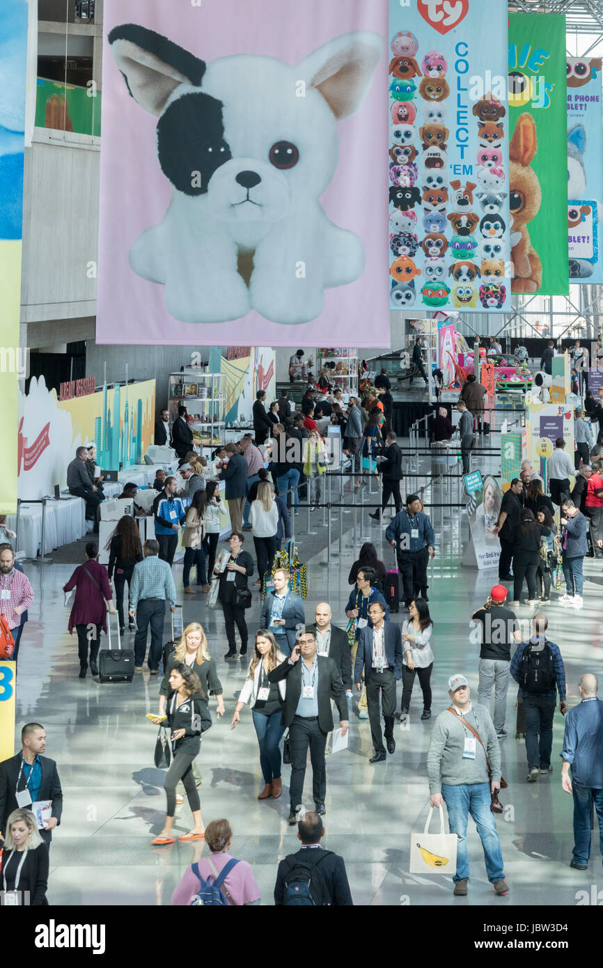 American International Toy Fair, Jacob K. Javits Convention Center, Manhattan, New York City, USA - Stock Image