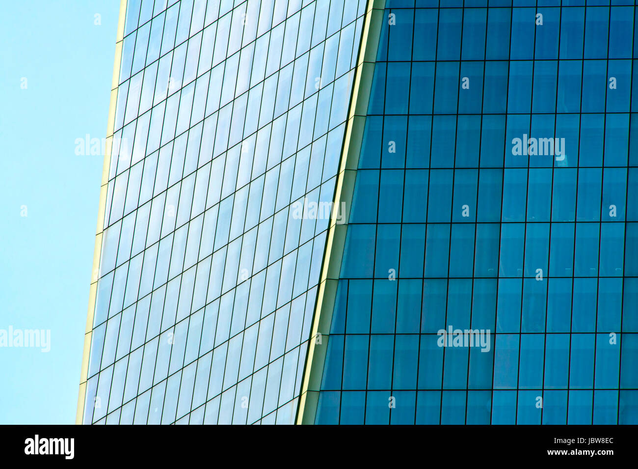 Architectural detail of One World Trade Center - Stock Image
