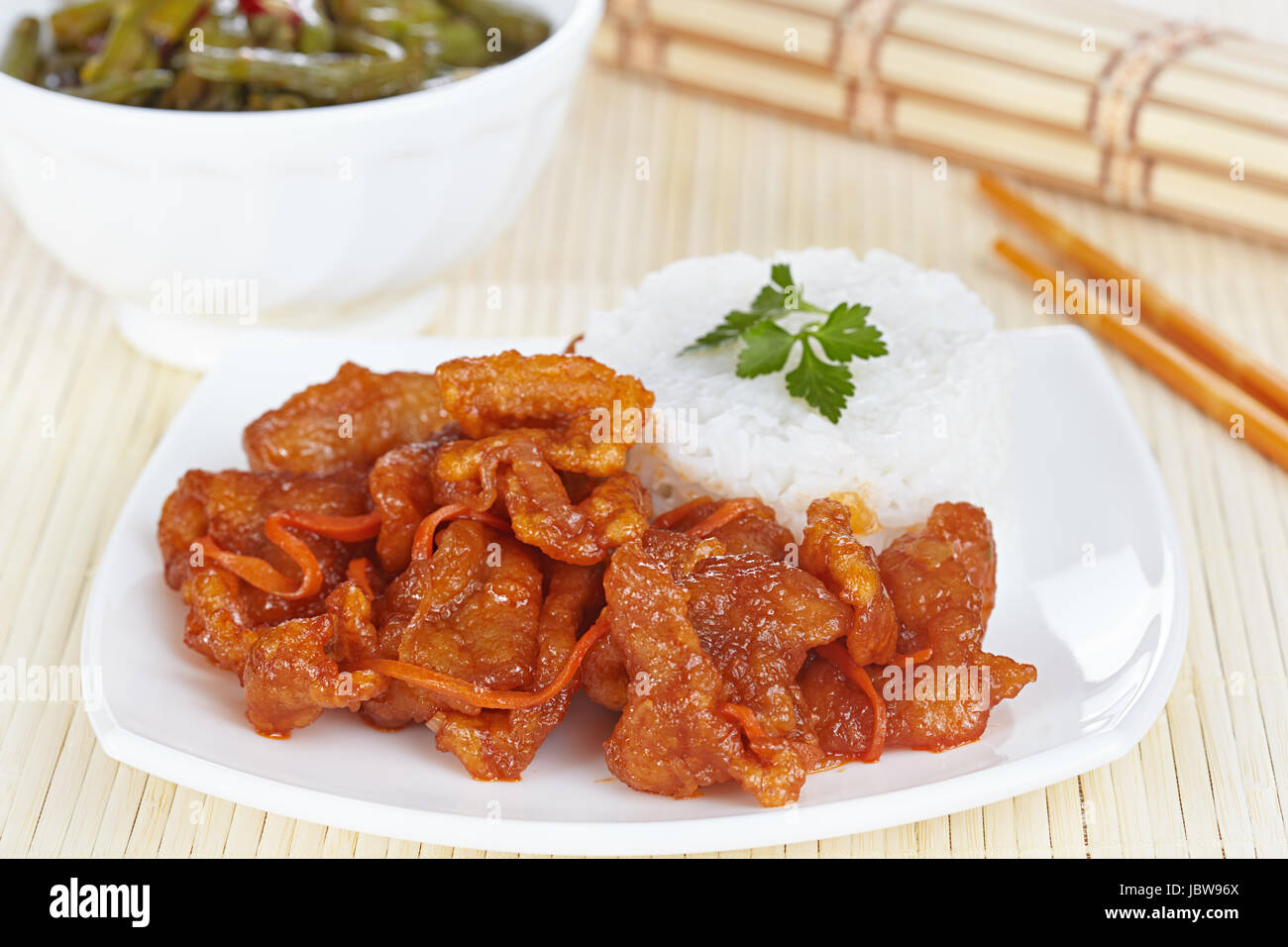 Chinese cuisine pork in batter and sweet and sour sauce with green chinese cuisine pork in batter and sweet and sour sauce with green beans in sichuan forumfinder Image collections