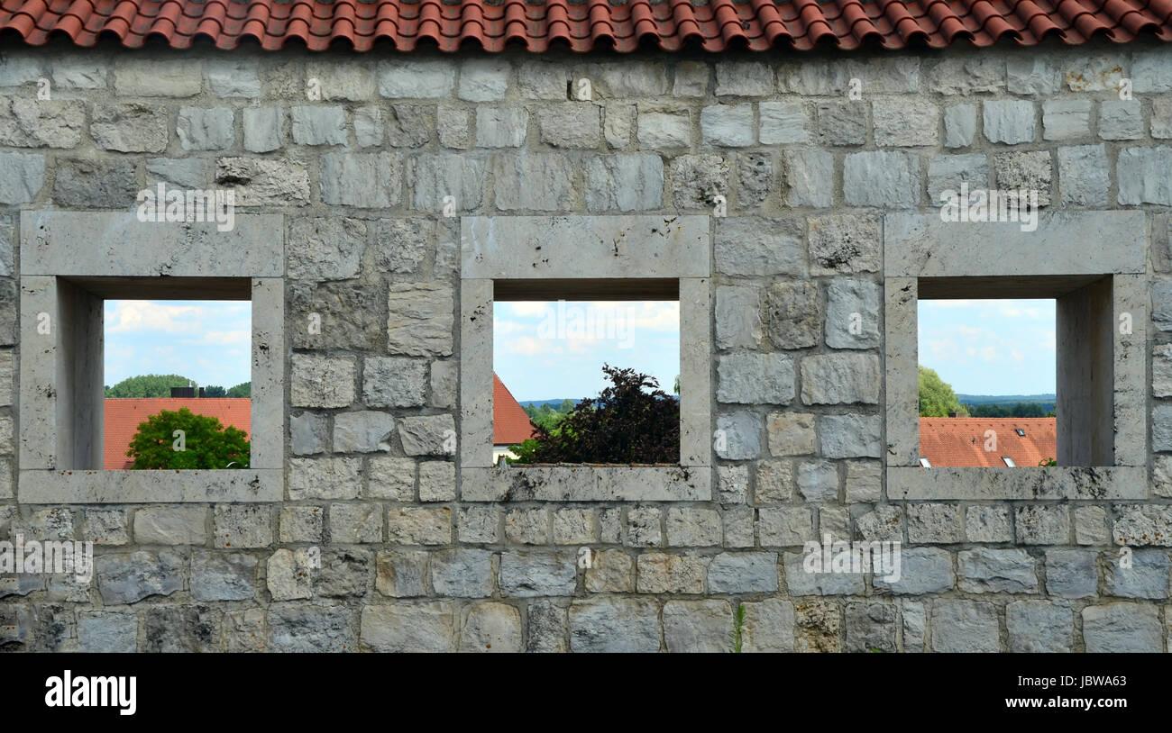 trio with perspective Stock Photo