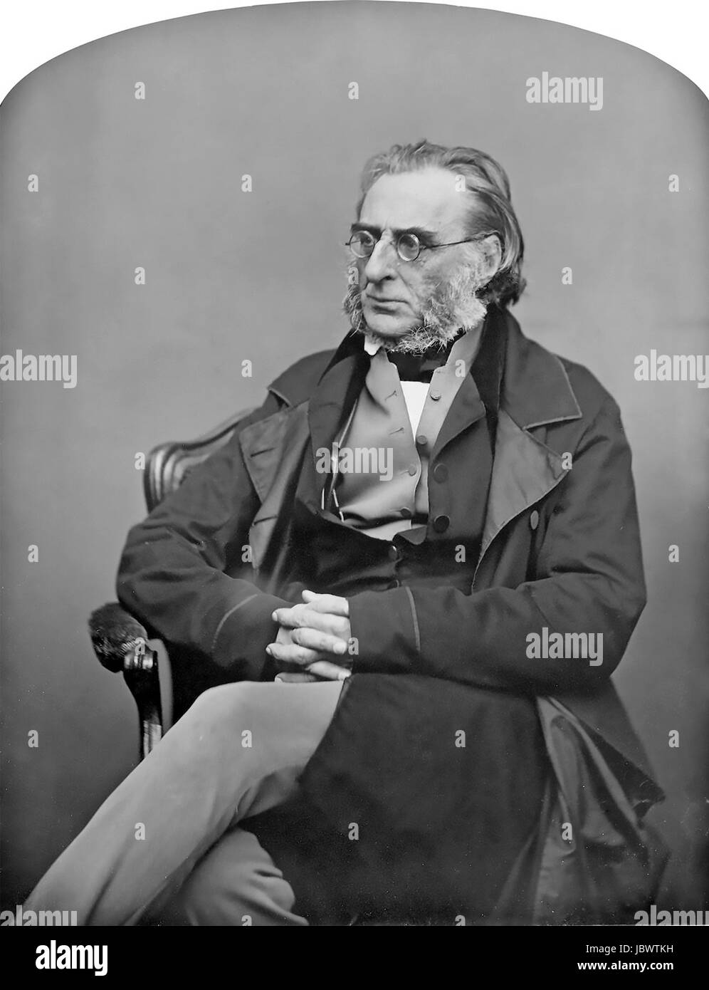 CHARLES JAMES NAPIER (1782-1853) British Army General about 1850 - Stock Image